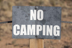 Aucun signe de camping Photo stock