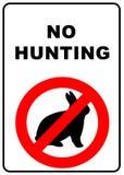 Aucun signe de chasse Photos stock