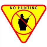 Aucun signe de chasse Images libres de droits