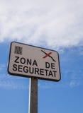 Aucun signe de chasse - zone protégée Image libre de droits