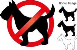 Aucun signe de chien Photographie stock libre de droits