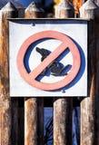 Aucun signe de chien Photographie stock