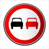 Aucun signe de circulation routière de dépassement d'isolement illustration de vecteur
