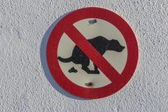 Aucun signe de dunette de crabot images libres de droits