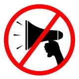 Aucun signe de mégaphone illustration stock