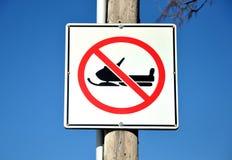 Aucun signe de motoneige Image libre de droits