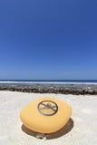 Aucun signe de natation photo stock