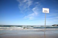 Aucun signe de natation Image libre de droits