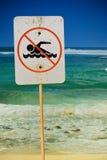 Aucun signe de natation Images libres de droits