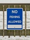 Aucun signe de pêche Photo stock