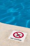 Aucun signe de plongée Photo stock