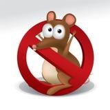 Aucun signe de rat Photo libre de droits