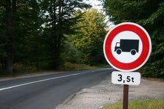 Aucun signe de route de camions Photographie stock libre de droits