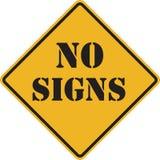 Aucun signe de signes photo libre de droits