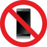 Aucun signe de smartphones Photographie stock libre de droits