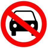 Aucun signe de stationnement Image stock