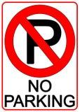 Aucun signe de stationnement Photos stock