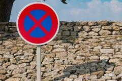 Aucun signe de stationnement Images libres de droits