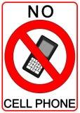 Aucun signe de téléphone portable Photos stock