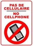Aucun signe de téléphones portables illustration stock