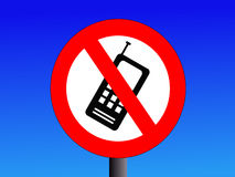 Aucun signe de téléphones portables Photographie stock
