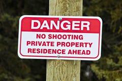 Aucun signe de tir indiquant la résidence privée en avant Photo libre de droits