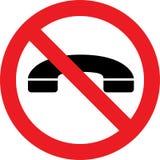 Aucun signe de téléphones Photographie stock libre de droits