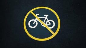 Aucun signe de vélos Image libre de droits