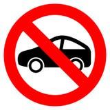 symboles de stationnement interdit avec la voiture et les signes illustration de vecteur image. Black Bedroom Furniture Sets. Home Design Ideas