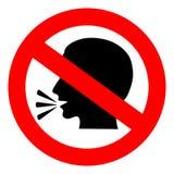 Aucun signe parlant Photo libre de droits