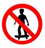 aucun signe permis par embarquement de patin Images stock