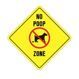 Aucun signe pooping de crabot illustration de vecteur