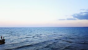 Aucun soleil en mer Image libre de droits