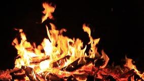 Aucun son Vingt-neuf 29 secondes de feu ou de feu de camp pour le th?me de Guy Fawkes par une eau superficielle au cr?puscule D?t