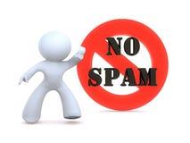 Aucun Spam Photos stock