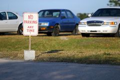 Aucun stationnement ? photos stock
