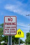 Aucun stationnement Image libre de droits