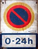 Aucun stationnement Photographie stock libre de droits