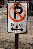 Aucun stationnement Image stock