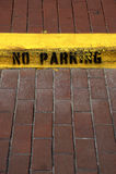 Aucun stationnement ne se connectent le bord dans la célébration la Floride Etats-Unis Etats-Unis images libres de droits