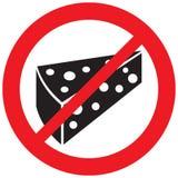 Aucun symbole de fromage Photo libre de droits