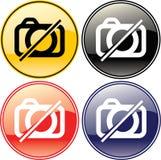 Aucun symbole de signe d'étiquette permis par illustration d'appareil-photo Photos libres de droits