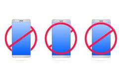 Aucun téléphones portables 3d Photographie stock