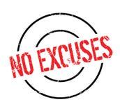 Aucun tampon en caoutchouc d'excuses illustration libre de droits
