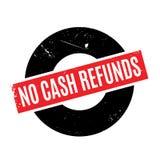 Aucun tampon en caoutchouc de remboursements d'argent liquide Photographie stock libre de droits