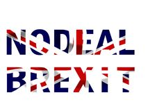 Aucun texte de Brexit d'affaire dans les couleurs du drapeau d'Union Jack images libres de droits
