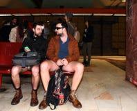 Aucun tour Bucarest 2015 de souterrain de pantalon Image libre de droits