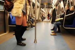 Aucun tour Bucarest 2015 de souterrain de pantalon Photographie stock libre de droits