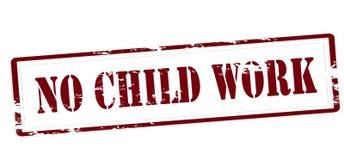 Aucun travail d'enfant illustration libre de droits