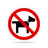 Aucun vecteur d'icône de chiens illustration de vecteur